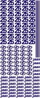 Stickervel Voorbeeldkaarten 077 jubileum 25 jaar