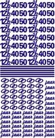 Stickervel Voorbeeldkaarten 076 jubileum diverse