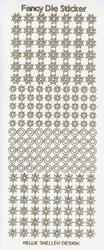 Sticker vel Fancy Dies Transparant Glitter FDS003