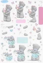 A4 Knipvel Tatty Teddy BO48 met taartjes