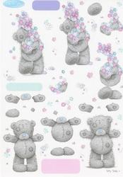 A4 Knipvel Tatty Teddy BO49 met bloementjes