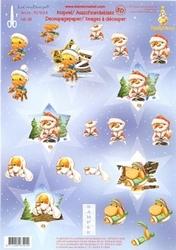 LeCreaDesign A4 Kerstknipvel Mylo & Friends nr 38 Ster