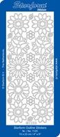 Stickervel Starform Outline 1125 Bloem 2