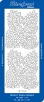 Stickervel Starform Outline 1128 Bloem ornament