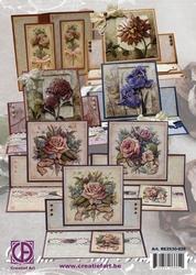 Creatief Art RE2530-025 Reddy Opstalkaarten bloemen