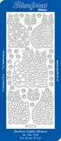 Stickervel Starform Outline 1122 Poezen