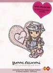 Stempel Yvonne Creations 10015 Love Girl