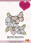 Stempel Yvonne Creations 10014 Love Butterfly
