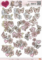 3D Knipvel Yvonne Creations CD10246 Love Butterfly