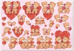 Knipvel A4 Mireille E530 Valentijn beertjes