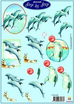 A4 Knipvel Picturel 1081 Dolfijnen