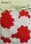 Foliart Papieren bloemen 45327 rood/wit