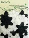 Foliart Papieren bloemen 45328 zwart/wit
