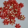 Bloemen pailletten PK123 rood transparant