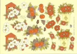A4 Kerstknipvel Nel van Veen 2217 Kerstbloemen/postbus