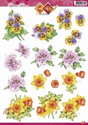 3D Knipvel Artiste Laura Broos CD10251 Voorjaarsbloemen