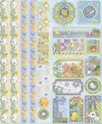 Joy! Sparkling Embossed Stickers 6013/0020 Baby
