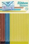 JeJe Ribbon stickers 3.9882 Butterflies Geel/koper/turqoise