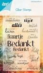 Joy Clear stamps Noor 6410-0020 NL teksten bedankt ea