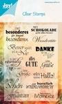 Joy! Crafts Clear stamps 6410-0023 Deutsch/duitse teksten