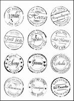 Joy! Crafts Clear stamps 6410-0005 diverse teksten rond