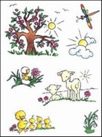 MD clear stamps Don & Daisy DDS3332 Theme spring