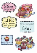 MD clear stamps Els Weezenbeek EWS2206 Tea and cupcakes