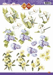 3D Knipvel Erica van Leeuwen CD10255 Bloemen