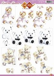 3D Knipvel Erica van Leeuwen CD10264 Teddyberen