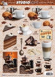 A4 Knipvel Studio Light SL1188 Coffee Time