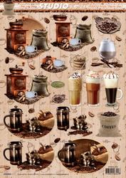 A4 Knipvel Studio Light SL1202 Koffie