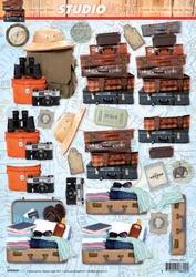 A4 Knipvel Studio Light SL 1221 Vakantie koffers/safari