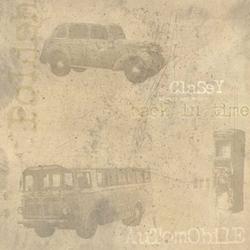 Scrapbookpapier Crea Motion 97606 Classic cars, off-white