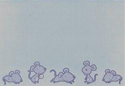 Scrapbookpapier Crea Motion 528999 Blue mouse