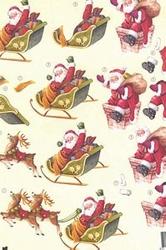 A4 Knipvel Wekon BM0024 Slee met kerstman
