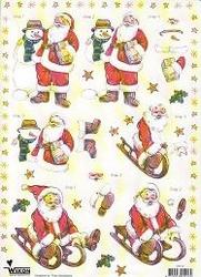 A4 Knipvel Wekon STT12 Kerstman/sneeuwman
