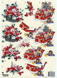 A4 Knipvel Wekon 4994-122 Kerststuk/slee met pakjes