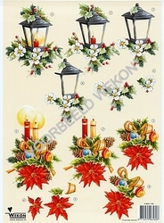 A4 Knipvel Wekon 4994-136 kerstlantaarn