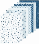 LeCreaDesign papier 518398 assorti Winter blauw