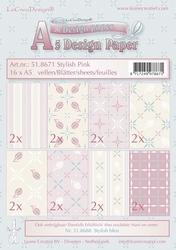 LeCreaDesign papier 518671 assorti Voorjaar Stylish pink