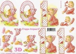 A4 Knipvel Le Suh 4169621 Geboorte Baby/meisje
