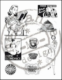 MD clear stamps CS0870 Fabulous Fifties-kitchen