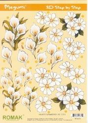 A4 Knipvel Megumi 16 Witte bloemen calla ea