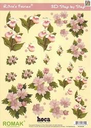 A4 Knipvel Ritva's Fairies 08 Orchide ea bloemen