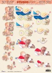 A4 Knipvel Studio Light STSL 574 Geboorte/baby/beer