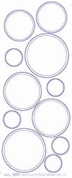 Stickervel Voorbeeldkaarten Transparant 268 Cirkels