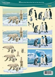3D Knipvel Hobby Design 73088 IJsberen & pinguins