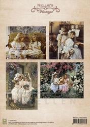 A4 Vel Nellie's Vintage Nevi007 Colour Best Friends