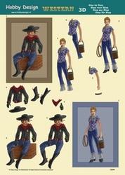 3D Knipvel Hobby Design 73044 Cowboy/cowgirl