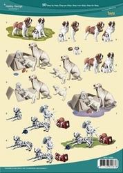 3D Knipvel Hobby Design 73068 Honden